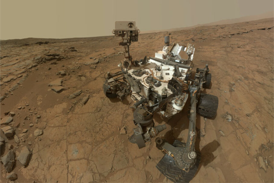 The ultimate navigation test for a robot: Mars! So far, Curiosity has proved itself pretty adept. Image courtesy NASA/JPL-Caltech/MSSS