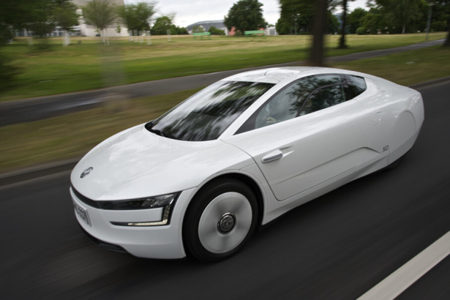 Volkswagen will introduce an augmented reality interface called MARTA for its upcoming VW XL1 -- an all-new, fuel-efficient, aerodynamic production car which features an intricate diesel-hybrid drivetrain. (Courtesy of Volkswagen of America, Inc.)