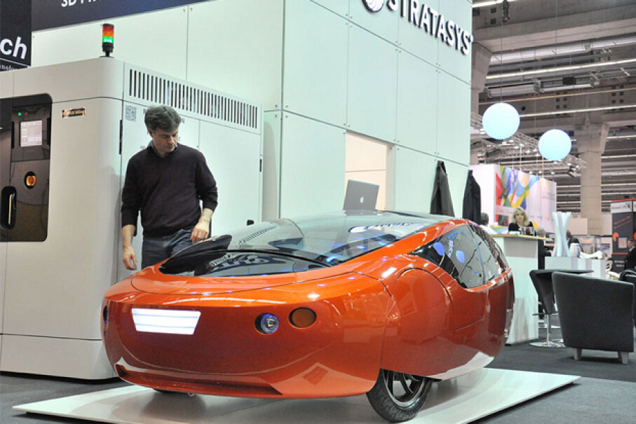 The Urbee is a full-size, street-legal car -- and its entire body is 3-D printed. (Courtesy of KOR Ecologic Inc.)