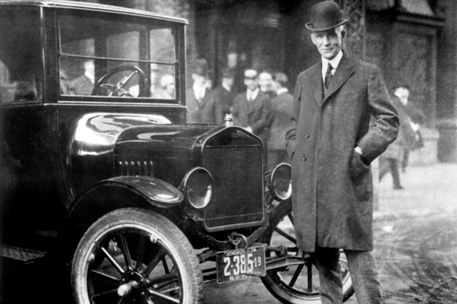 Henry Ford with a 1921 Model T (Courtesy of the Ford Motor Company)