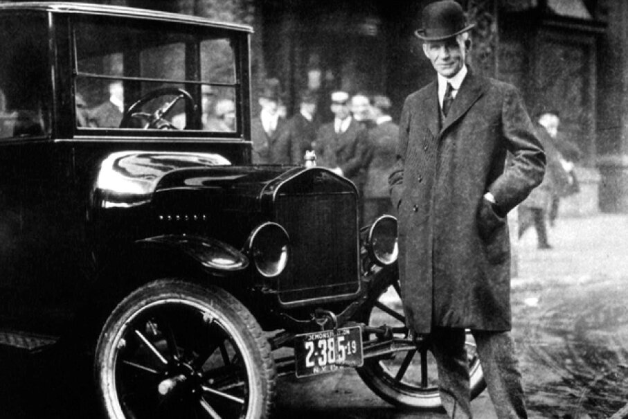 Henry Ford with his Model T (Hulton Archive/Getty Images)