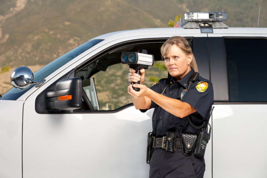 Most police simply look for cars that are going too fast, and then pull those cars over, regardless of color. (Dieter Spears/E+/Getty Images)