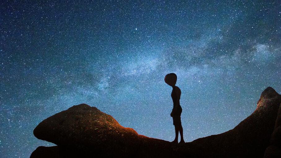 Alien and Milky Way