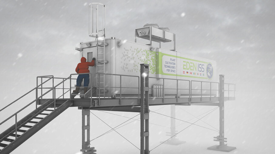 Antarctic shipping-container greenhouse