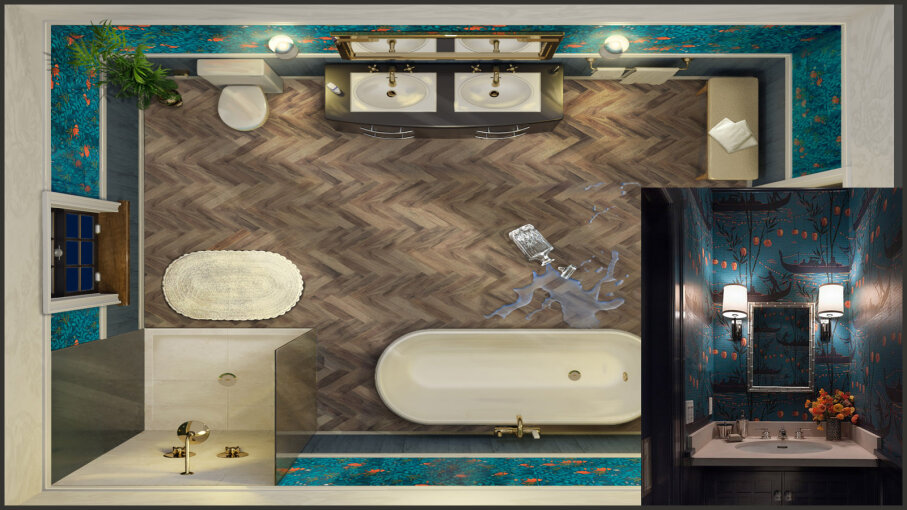 CLUE bathroom