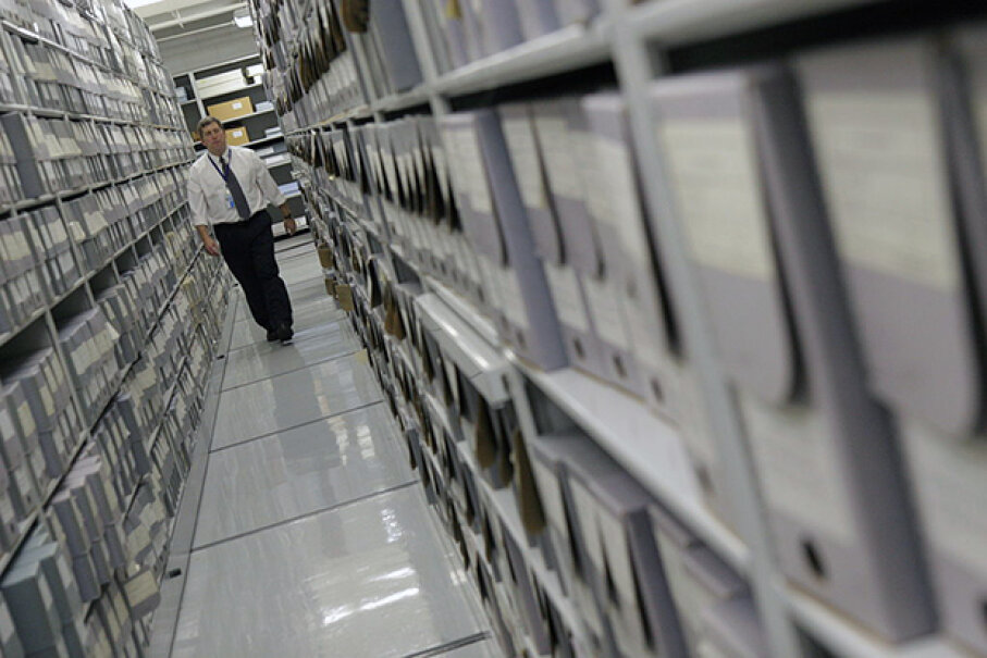 Here, archivists prepare government documents for access by the general public. It's because of the Freedom of Information Act that we have access to many such documents. Sarah L. Voisin/The Washington Post/Getty Images