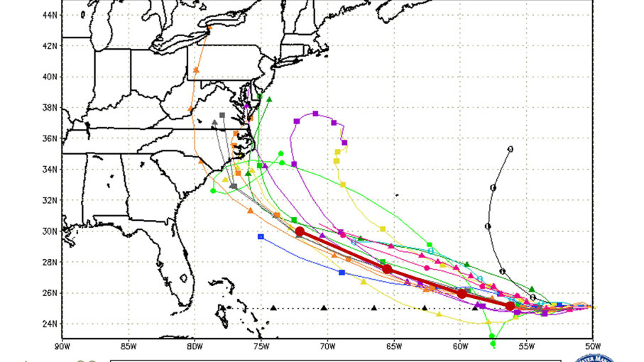graphic relating to Hurricane Tracking Maps Printable titled How Do Spaghetti Versions Forecast a Hurricanes Way