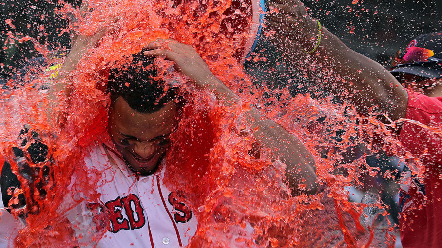 What if athletes, famous and otherwise, reached for something other than sports drink to fuel up (or to get the customary drenching after a win)? Barry Chin/The Boston Globe via Getty Images