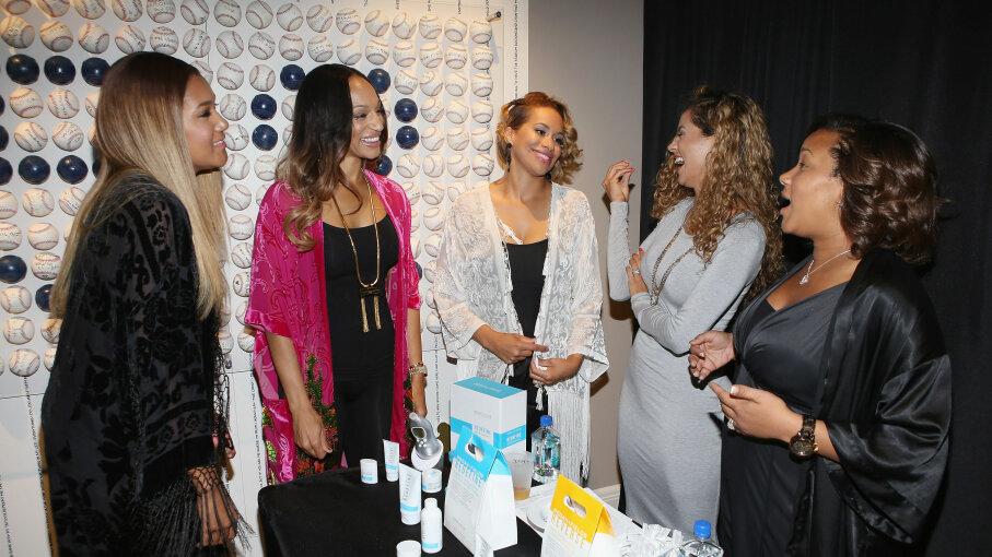 Elaina Watley, Alexis Stoudemire and Amber Sabathia; Rodan + Fields