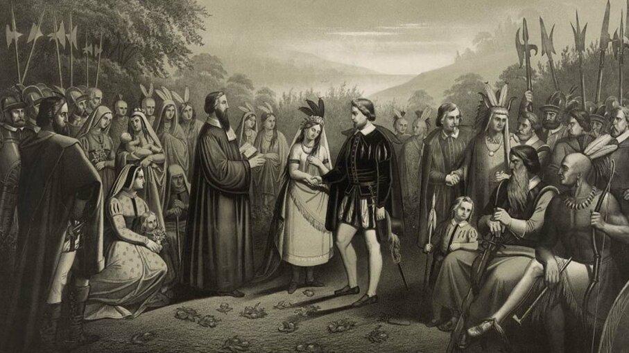 Pocahontas married John Rolfe