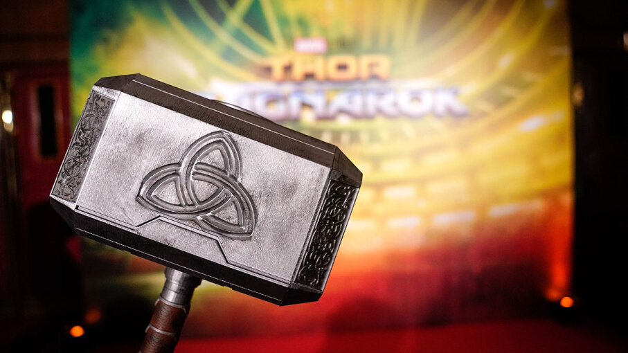 Thor's magical and mighty hammer, Mjolnir