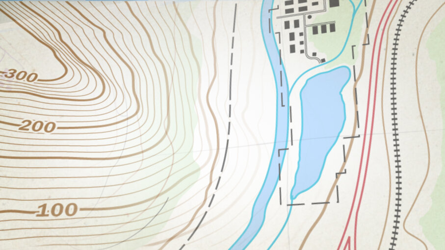 Topographic map detail