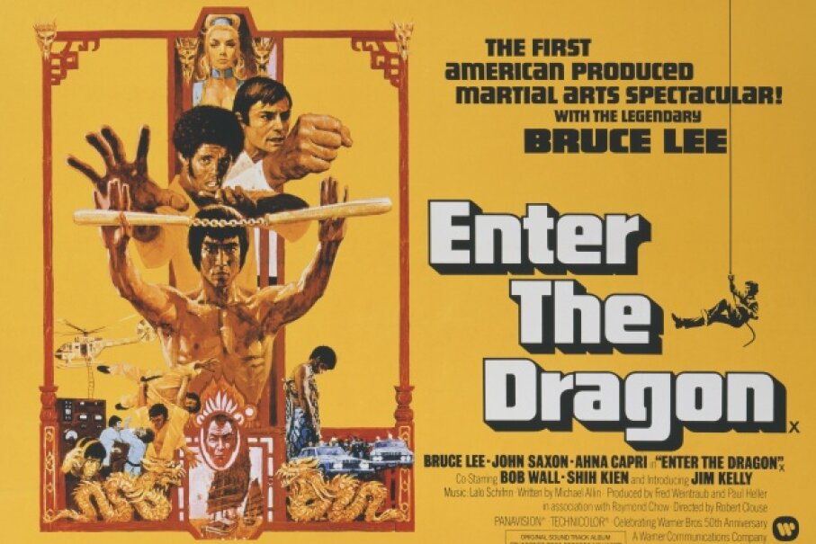 This classic martial arts picture from Warner Bros. marked Bruce Lee's last performance. Movie Poster Image Art/Getty Images