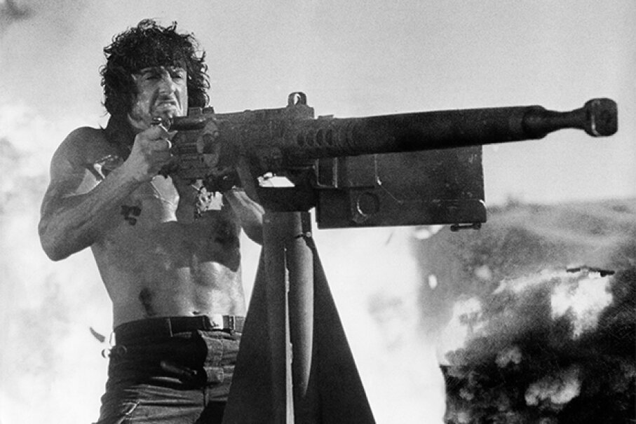 Technically that photo is from the third Rambo, but you get the idea. Röhnert/ullstein bild via Getty Images
