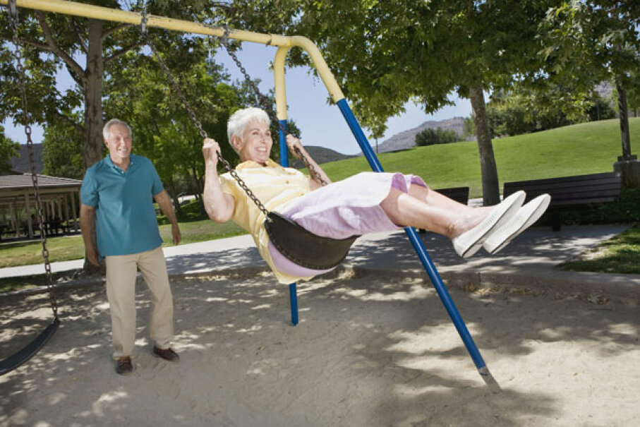 Swinging: just as fun now as it was when you were a kid. ©Jupiterimages/Thinkstock