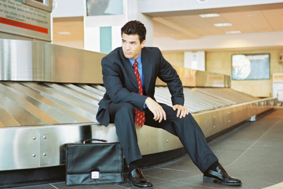 If your luggage never makes an appearance at the baggage carousel, make sure you file a report with airline, and ask to be reimbursed for emergency expenses. ©BananaStock/Thinkstock