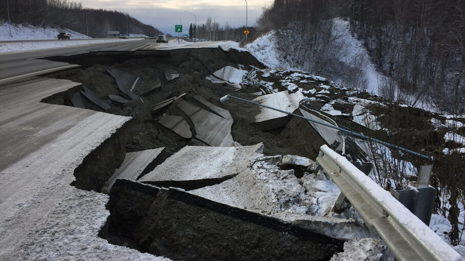 road damage Anchorage