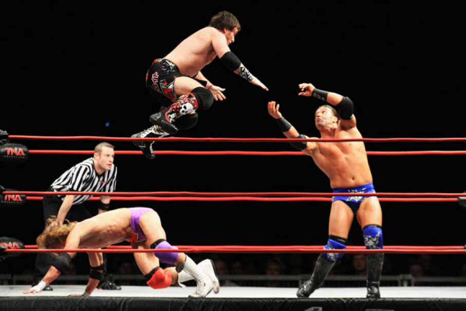 "Pro wrestling has now been given an exemption from the Louisiana law banning ""sham or fake contests or exhibitions."" Joern Pollex/Bongarts/Getty Images"