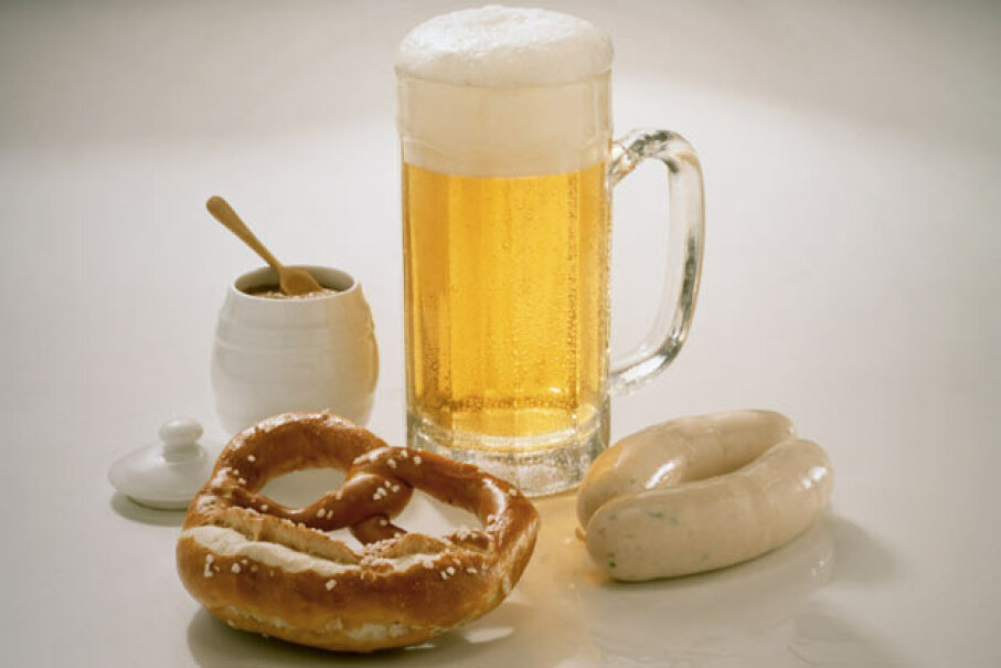 Who knows what horrors await you if down your beer and pretzels together in North Dakota? Eising/Photodisc/Thinkstock