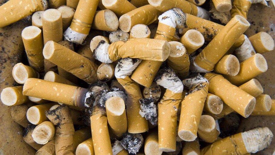 cigarettes, ashtray