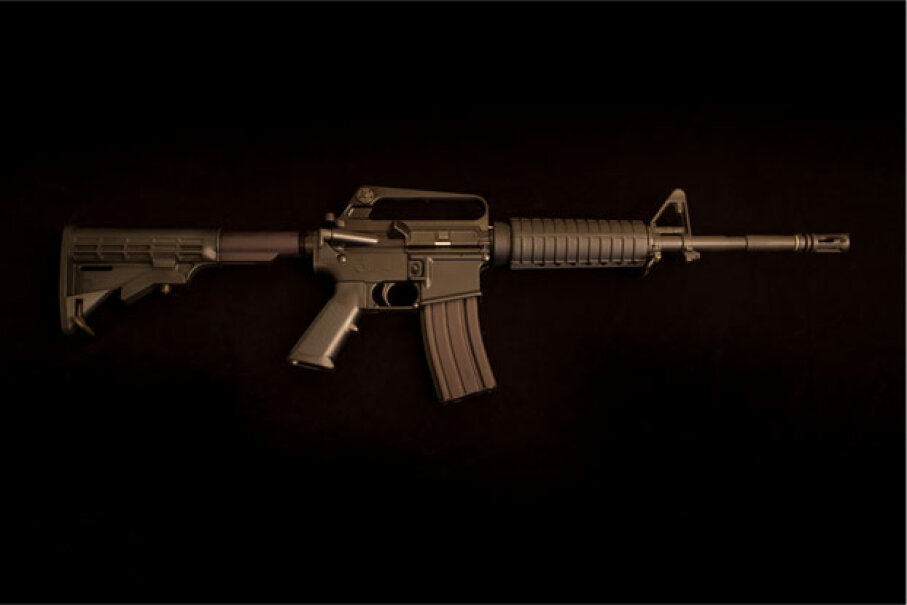 Pictured is one of the guns at the heart of the U.S. assault weapon debate: the Bushmaster AR-15 semi-automatic rifle. See more gun pictures. © Julie Dermansky/Corbis