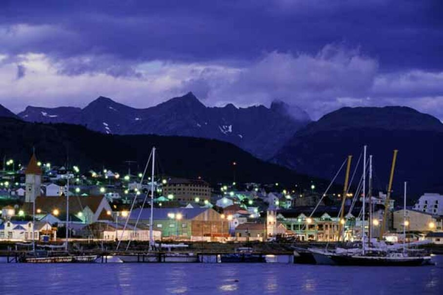 Catching the aurora australis in Ushuaia is tough, but touring South America''s southernmost city is also an event. Walter Bibikow/Taxi/Getty Images