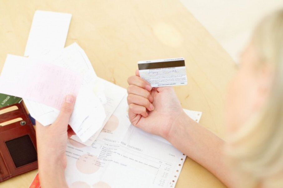 It's a good idea to keep credit cards – and photocopies of them – at home. ©Stockbyte/Thinkstock
