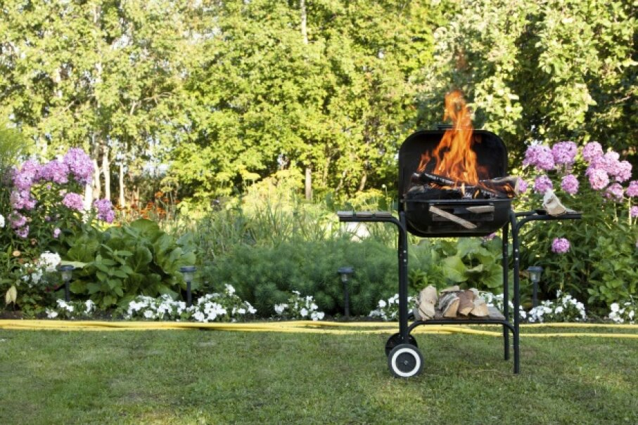 Because grill use involves fire, there's a certain level of danger inherent to cooking out.  ©iStockphoto/Thinkstock