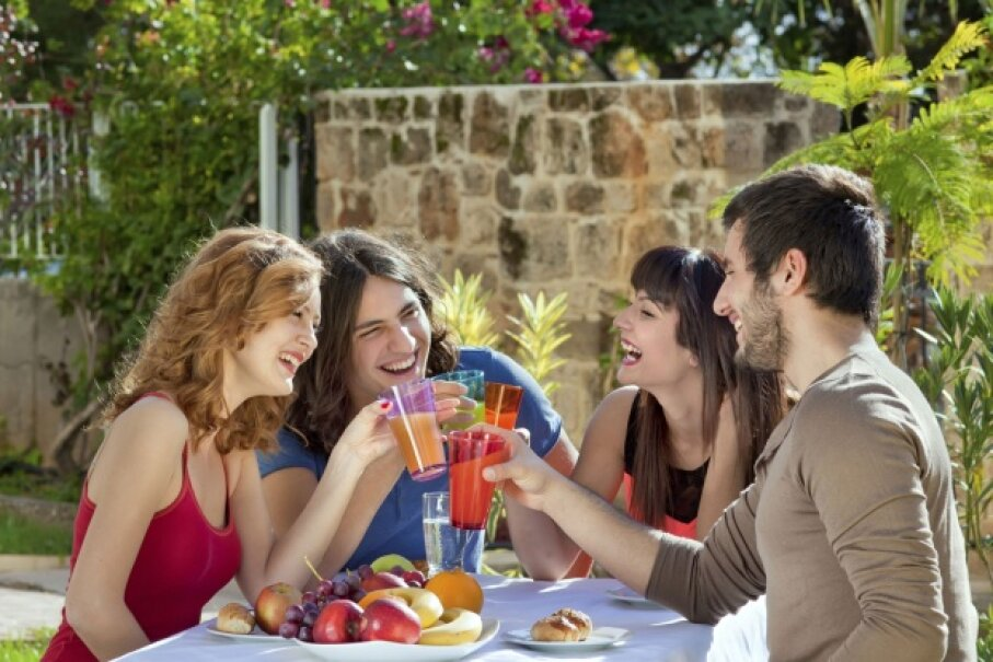 Don't ruin an otherwise healthy gathering outdoors by neglecting your skin. Stay out of midday rays and apply sunscreen.  ©iStockphoto/Thinkstock