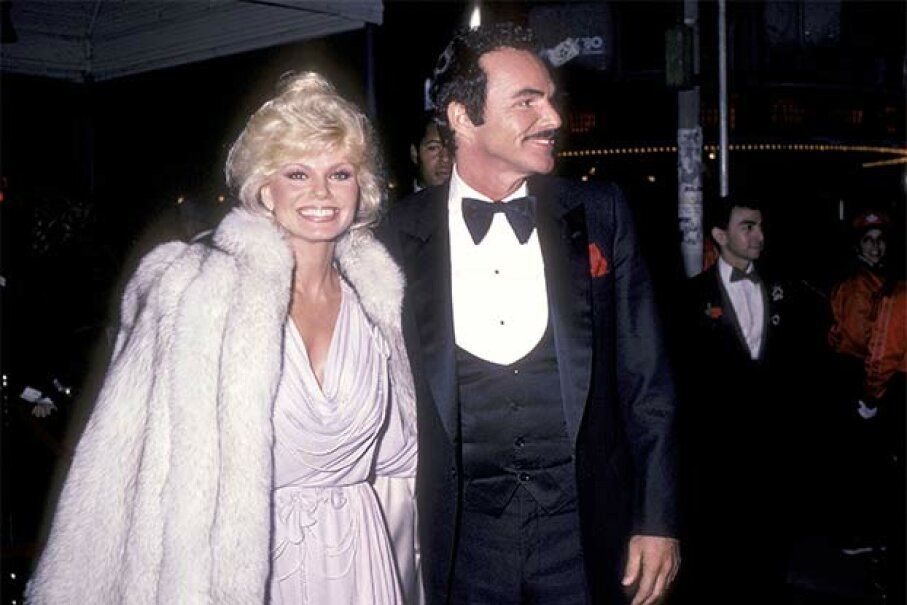 Burt Reynolds and Loni Anderson attend a movie premiere back when they were happily married. Even though Reynolds declared  bankruptcy after their divorce in 1993, he still owes her $150,000. Ron Galella, Ltd./WireImage/Getty Images