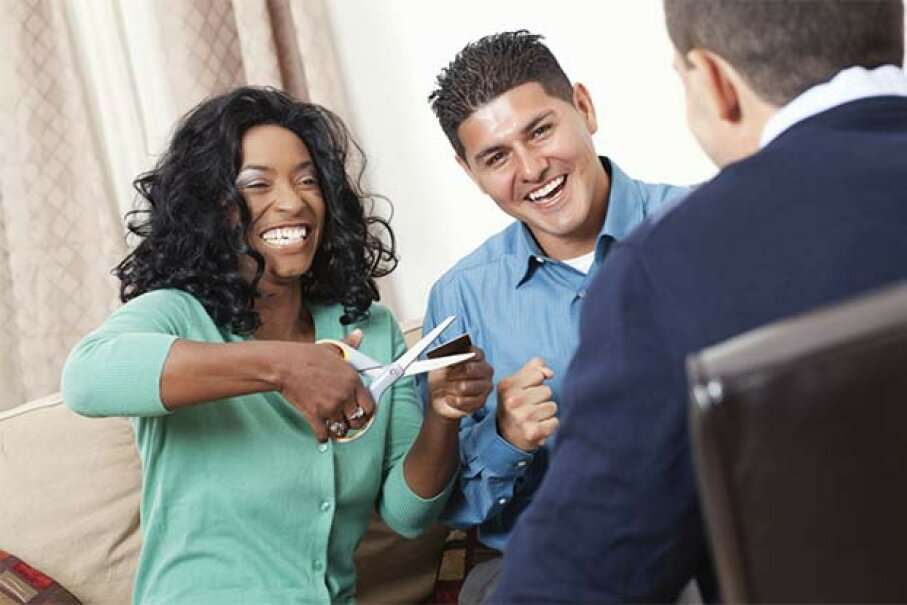 Working with a credit counselor to set up a debt repayment plan is one alternative to bankruptcy. Often the counselor can negotiate with your creditors to lower your payments. Steve Debenport/Getty Images