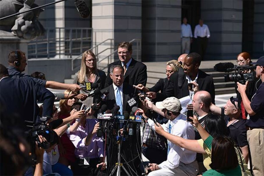 OK, so maybe your lawyer won't have to give a press conference (like Joe and Teresa Giudice's lawyer) but it's still smart to hire one. Michael Loccisano/Getty Images