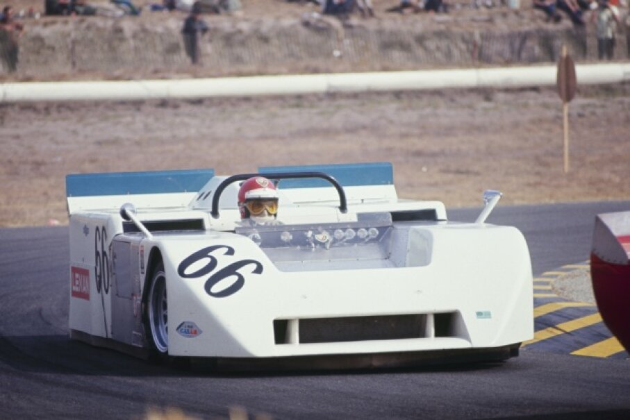 "Vic Elford drives the ""vacuum car"" in a 1970 Can-Am race. Fred Enke/The Enthusiast Network/Getty Images"