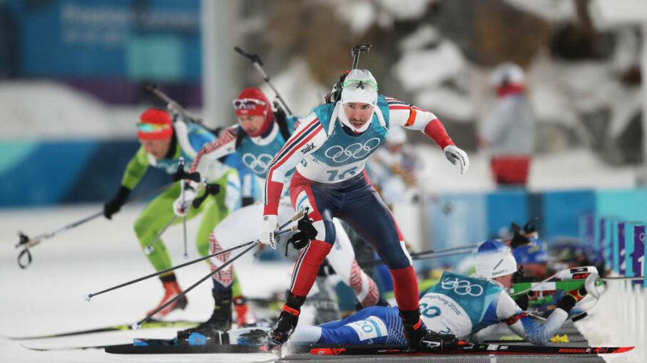 Timofei Lapshin of Korea biathlon Olympics