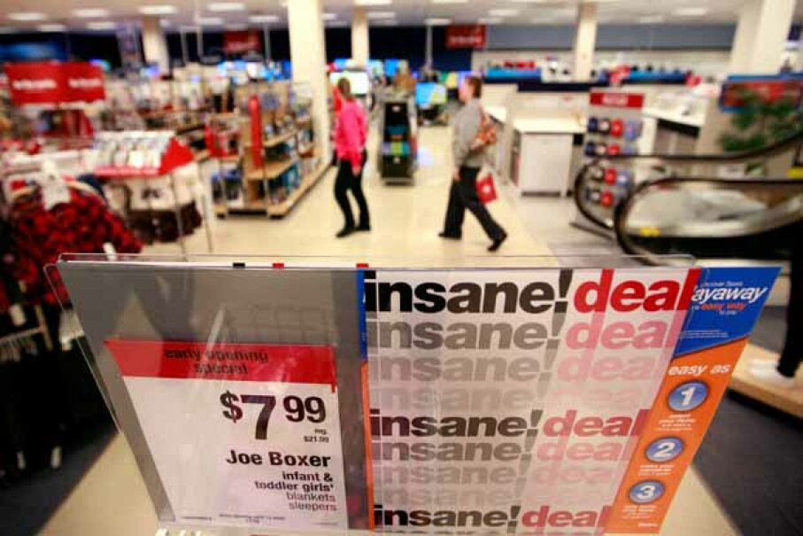 Perhaps the sign was a tip-off to the craziness that ensued at the San Antonio, Texas, Sears on Black Friday, 2012. Tom Pennington/Getty Images