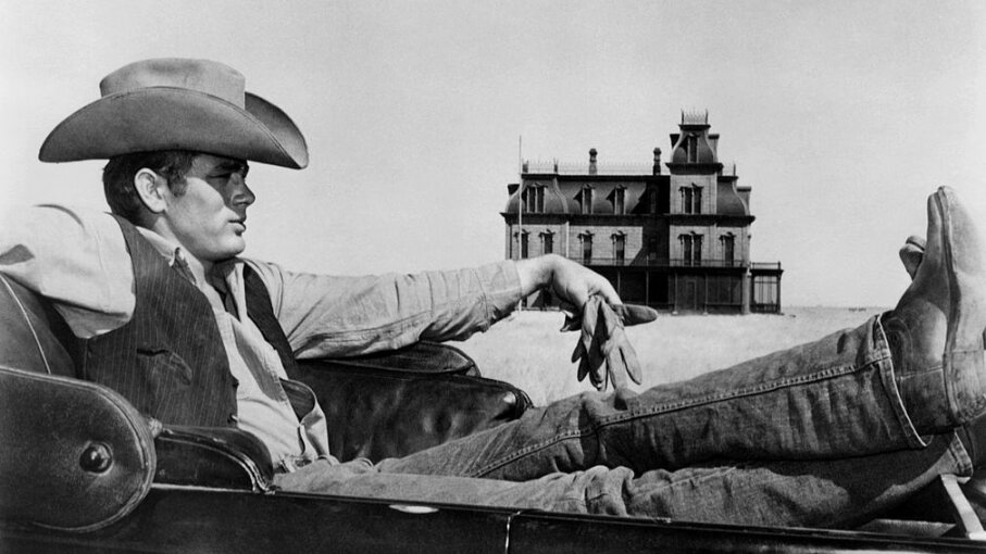 Actor James Dean poses for a photo on the set of the Warner Bros film 'Giant' in 1955 in Marfa, Texas. Michael Ochs Archives/Getty Images