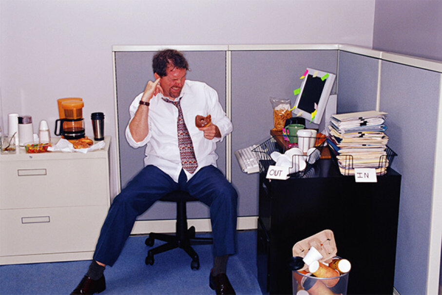 Keep your office neat and your personal hygiene at an acceptable level. Stockbyte/Thinkstock