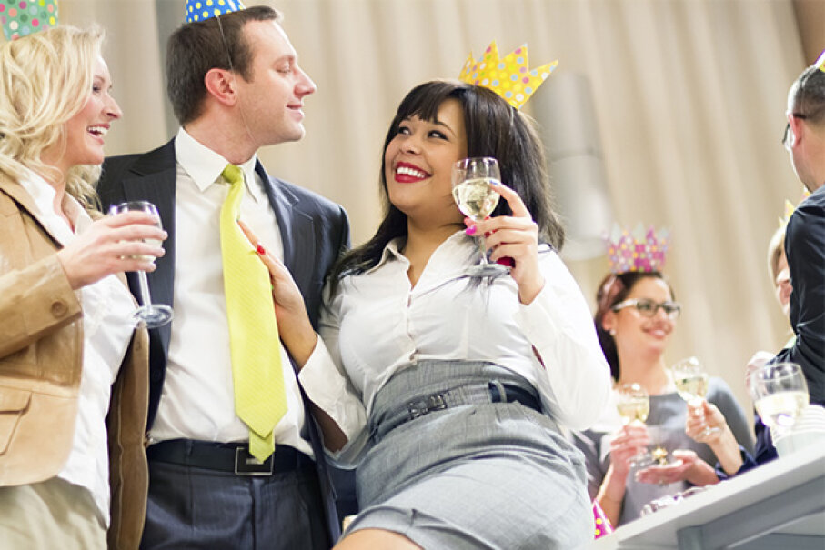 Be careful about drinking too much at the office party — or you might be the object of gossip on Monday. ajkkafe/iStock/Thinkstock