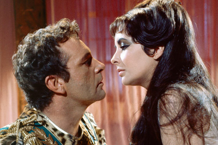 The story Cleopatra and Mark Antony's tumultuous romance was famously played out onscreen in 1963 by Elizabeth Taylor and Richard Burton. © Silver Screen Collection/Hulton Archive/Getty Images
