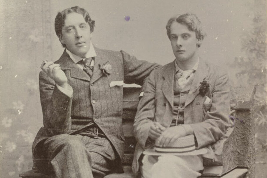 A studio portrait of Oscar Wilde and Lord Alfred Douglas, 1894 © The British Library/Robana via Getty Images