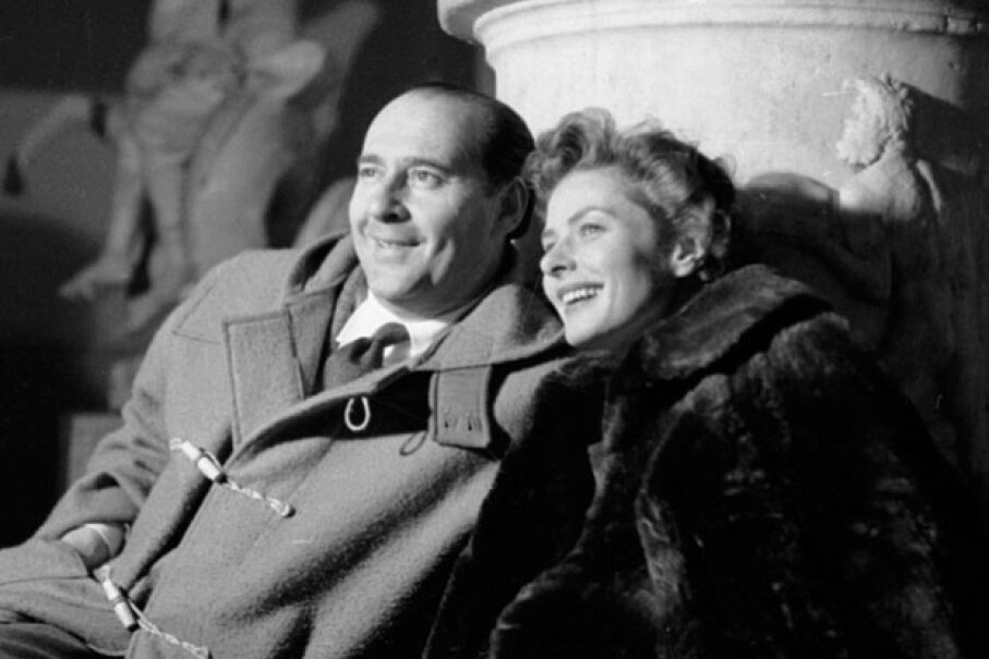 A happy Ingrid Bergman and her husband, Roberto Rossellini, in May 1953 ©Bert Hardy/Picture Post/Getty Images