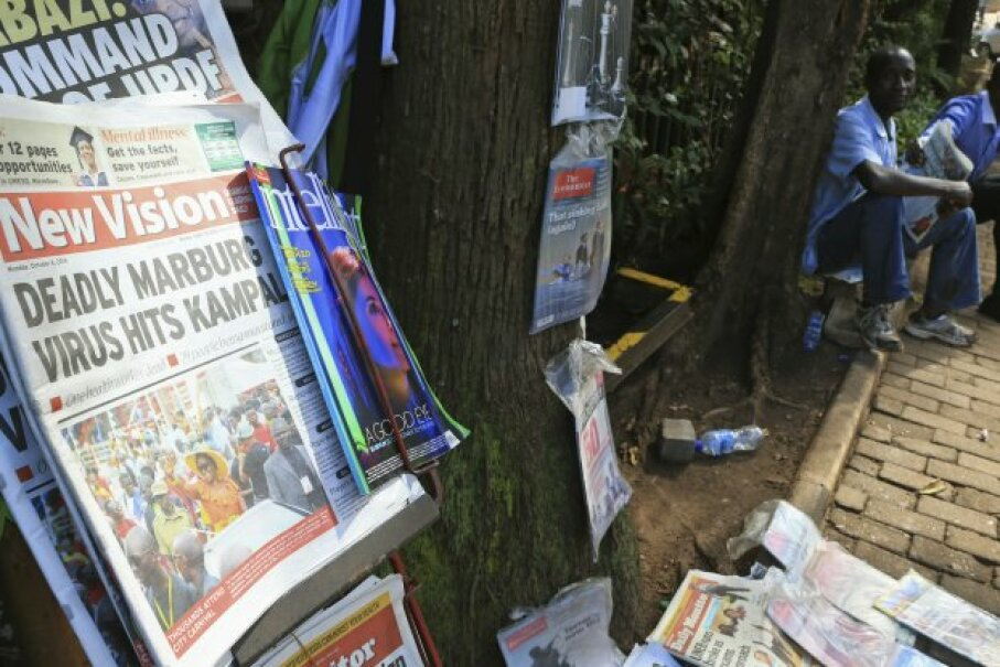 A newspaper chronicles the Marburg virus outbreak in the Ugandan capital Kampala in October 2014. © James Akena/Reuters/Corbis