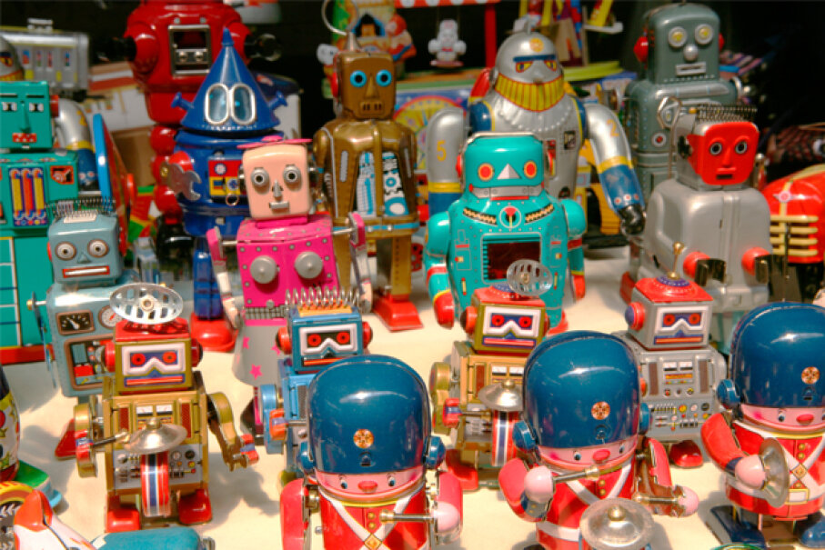 Today's robotics toys are complex, educational, and make vintage robots seem like, well, child's play. Tim Draper/Dorling Kindersley/Getty Images