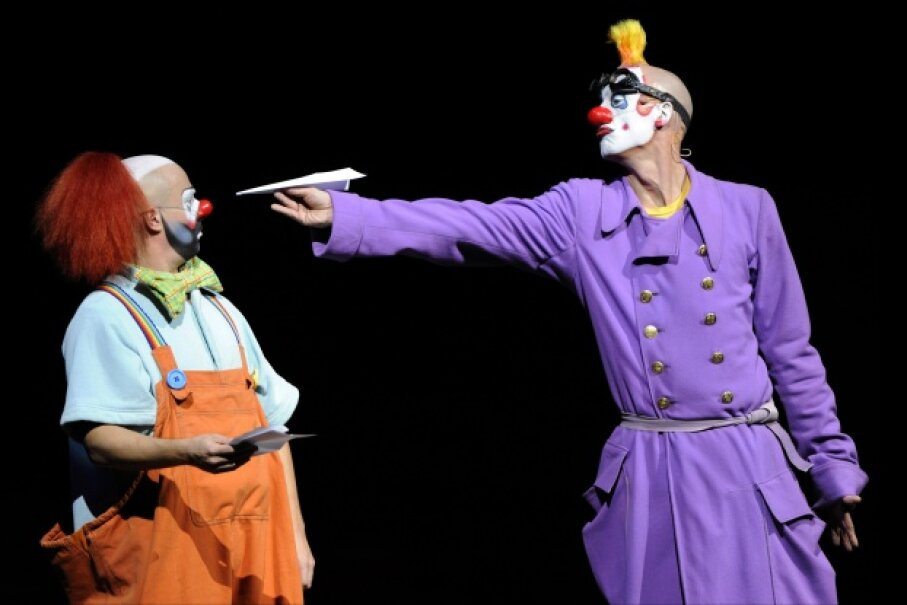Sure, some people may find clowns creepy, but they've been entertaining circus audiences for centuries. BERTRAND GUAY/AFP/Getty Images