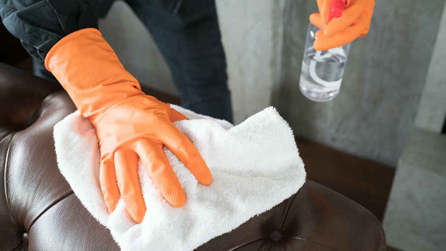 cleaning leather