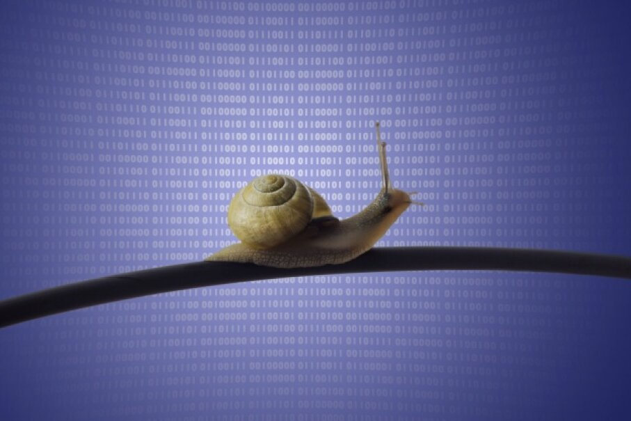 If your ISP throttles or caps your bandwidth, this is how Internet access feels. It's a sad thing.  ©iStock/Thinkstock