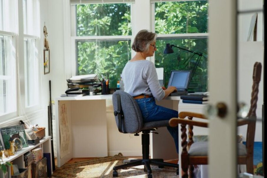 Your little home office can be a tidy tax deduction. Ryan McVay/Photodisc/ThinkStock