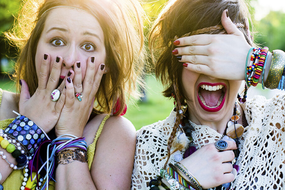 Teens will be teens. Don't let the chatter of fellow concertgoers ruin your night. betyarlaca/iStock/Thinkstock