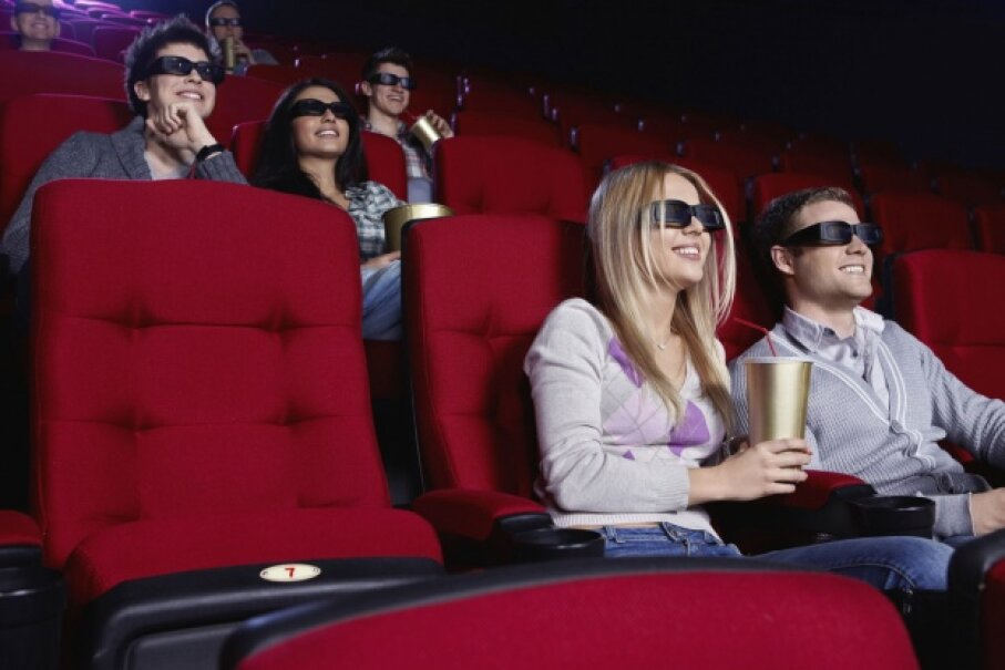 Was your shared love of movies part of what brought you together? Make a plan for how often you'll go to the theater as a couple and how much you'll spend there. © Deklofenak/iStock/Thinkstock