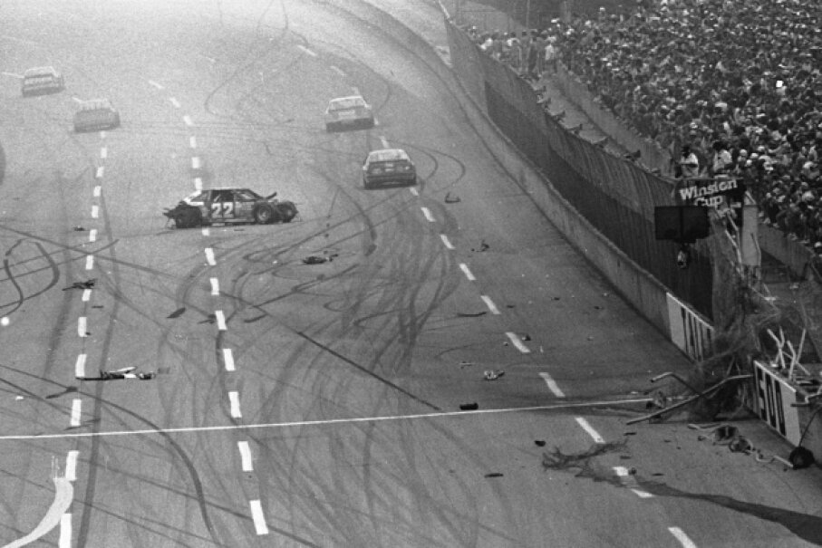 Bobby Allison's crash at Talladega in 1987 alerted NASCAR to the need for better safety measures. RacingOne/ISC Images & Archives via Getty Images